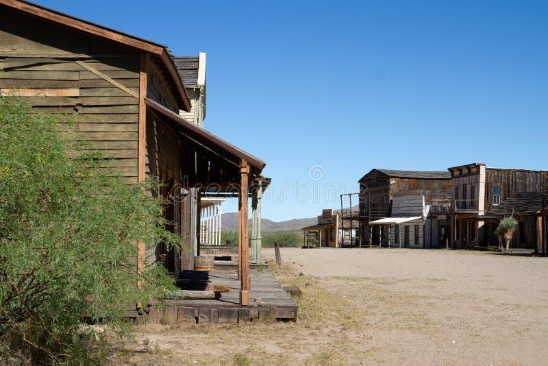 Vieux décor de film occidental sauvage de ville en Arizona photo stock