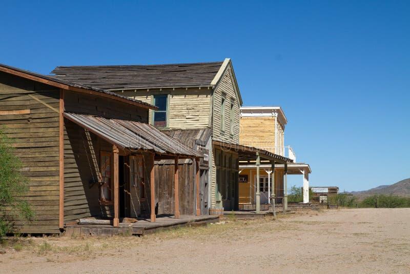 Vieux décor de film occidental sauvage de ville en Arizona photos stock