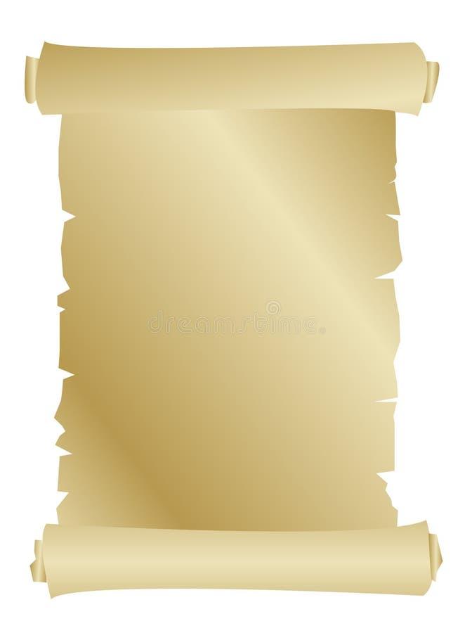 Vieux Défilement De Papier Image libre de droits