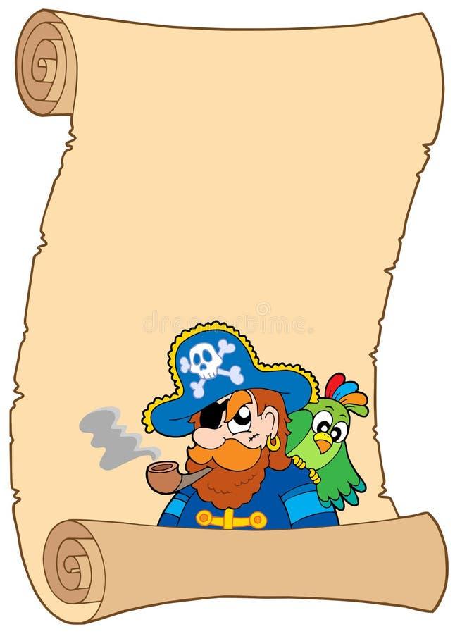 vieux défilement de pirate illustration de vecteur