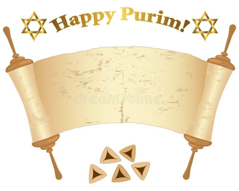 Vieux défilement de Torah. illustration de vecteur