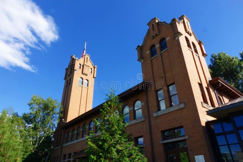 Vieux dépôt de Milwaukee - Montana photo libre de droits