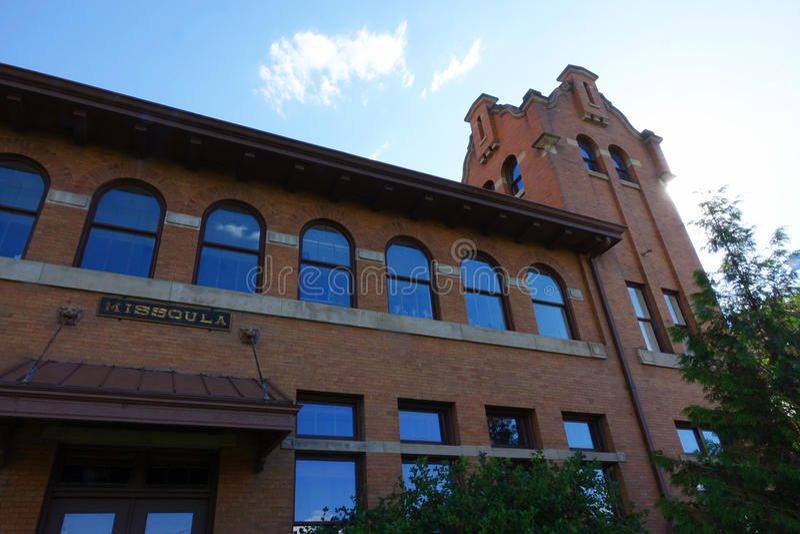 Vieux dépôt de Milwaukee - Montana photos libres de droits