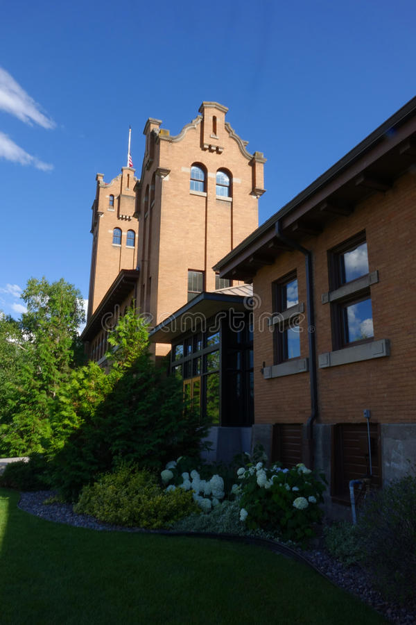 Vieux dépôt de Milwaukee - Montana photos stock