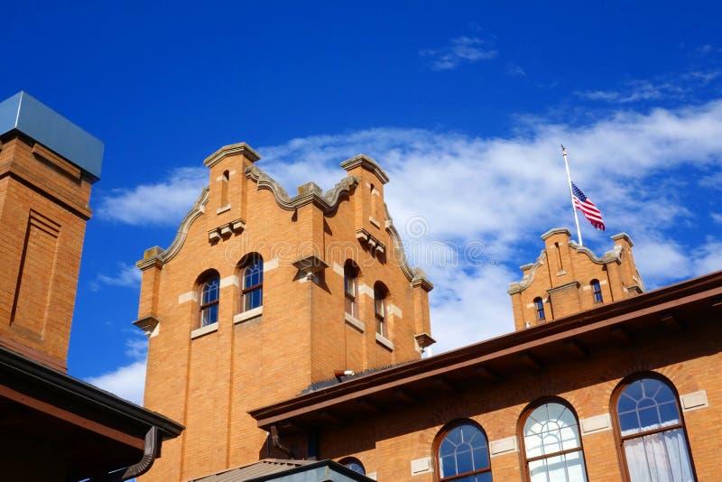 Vieux dépôt de Milwaukee - Montana photo stock