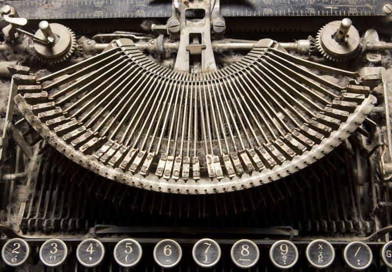 Vieux détail de machine à écrire images libres de droits