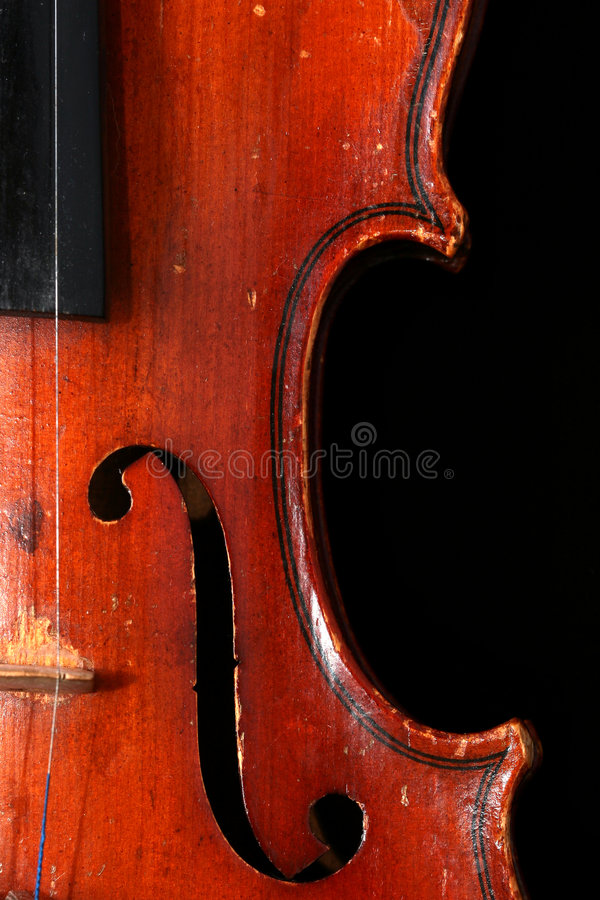 Vieux détails de violon photographie stock