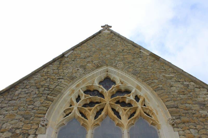 Vieux détails gothiques anglais d'église photos libres de droits