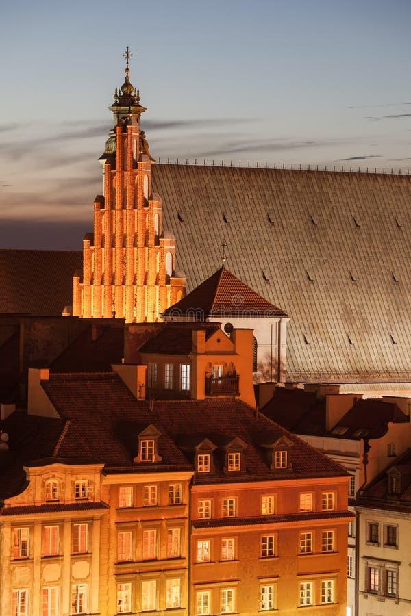 Vieux ` de Chambres et de St John de ville s Archcathedral à Varsovie photos stock