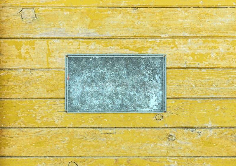 Vieux de plaque métallique images stock
