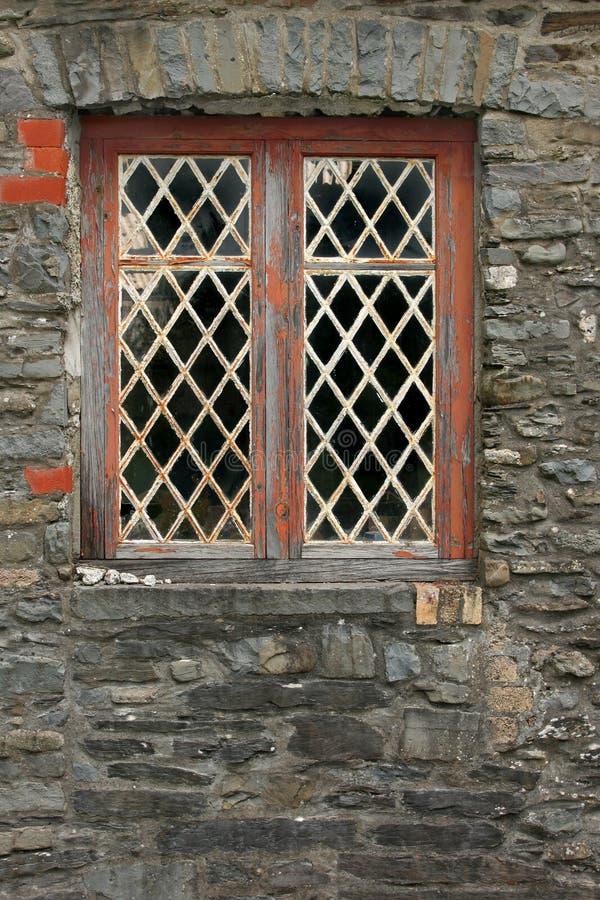 Vieux diamant Windows plombé photos libres de droits