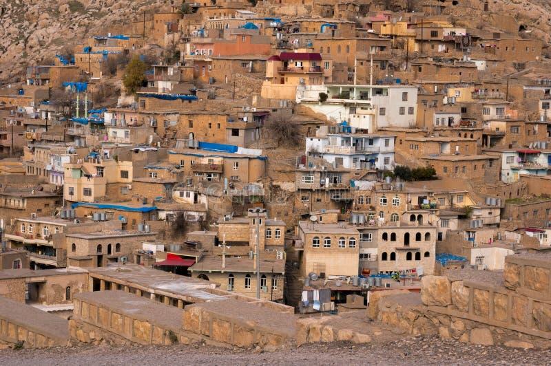 Vieux Distric du Kurdistan d'Akre Aqrah de l'Irak photographie stock