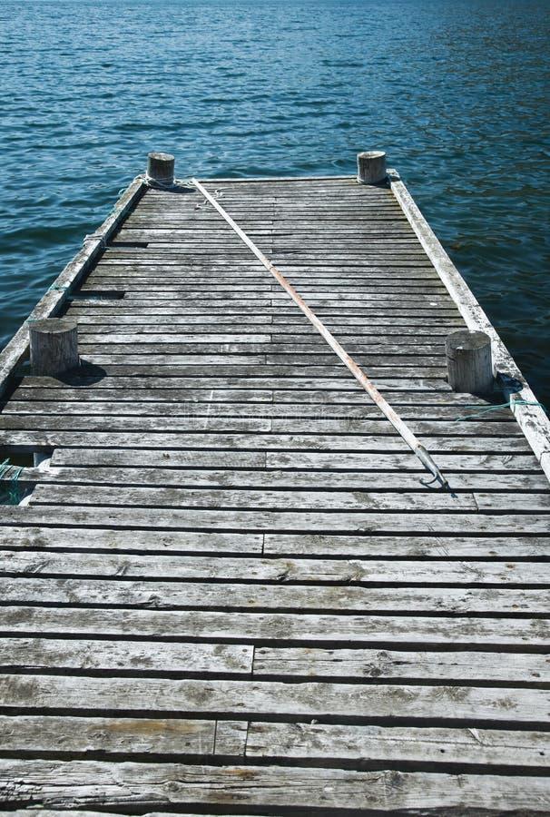 Vieux dock de pêche images libres de droits