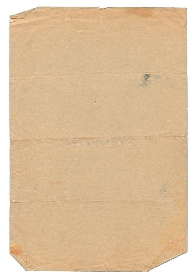 Vieux document d'isolement sur le fond blanc photographie stock