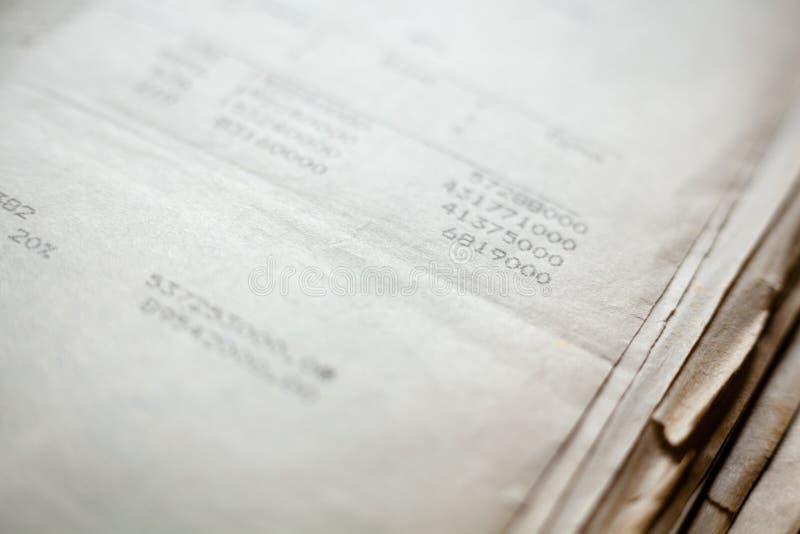 Vieux documents sur papier images libres de droits