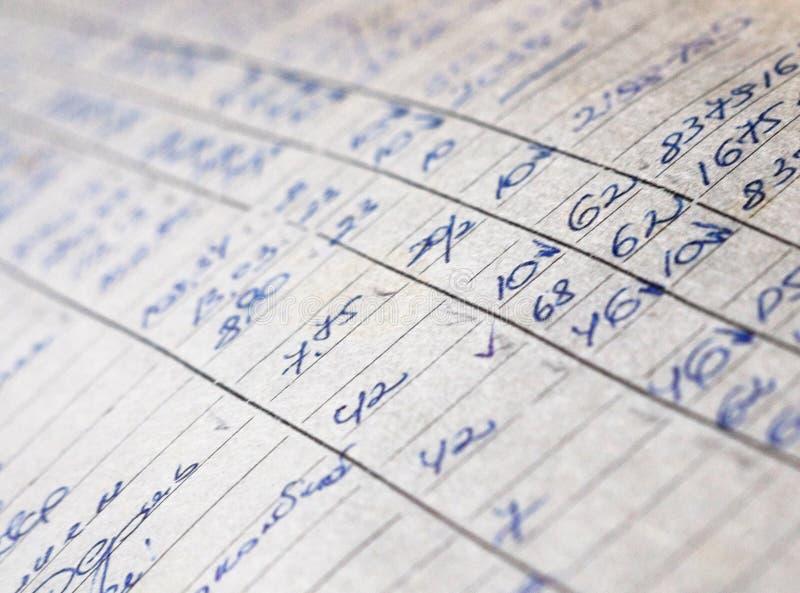 Vieux documents sur papier dans les archives image libre de droits