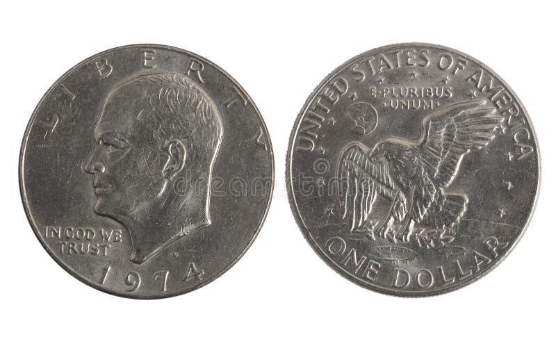 Vieux dollar en argent photo stock