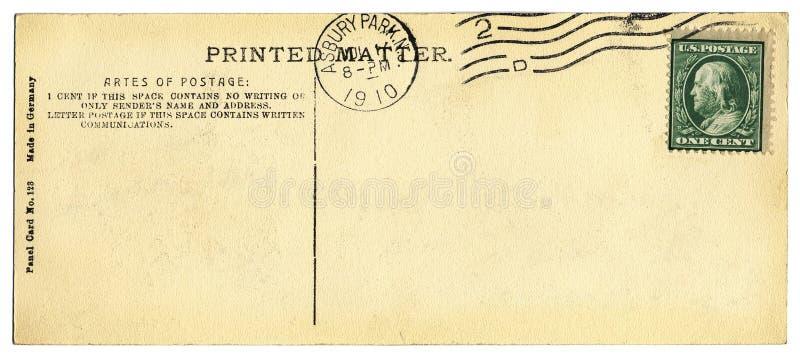 Vieux dos de carte postale photo stock. Image du vide - 3132628