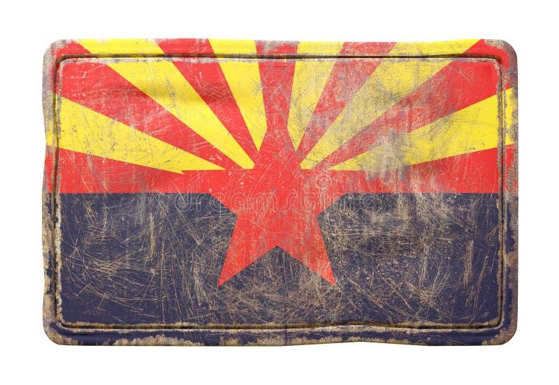 Vieux drapeau d'état de l'Arizona illustration libre de droits