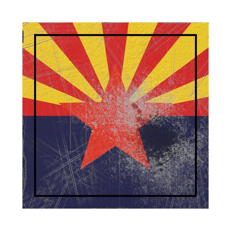 Vieux drapeau d'état de l'Arizona illustration de vecteur