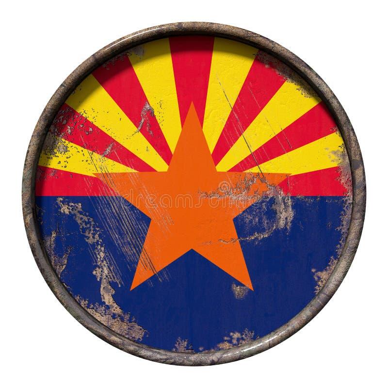 Vieux drapeau de l'Arizona illustration stock