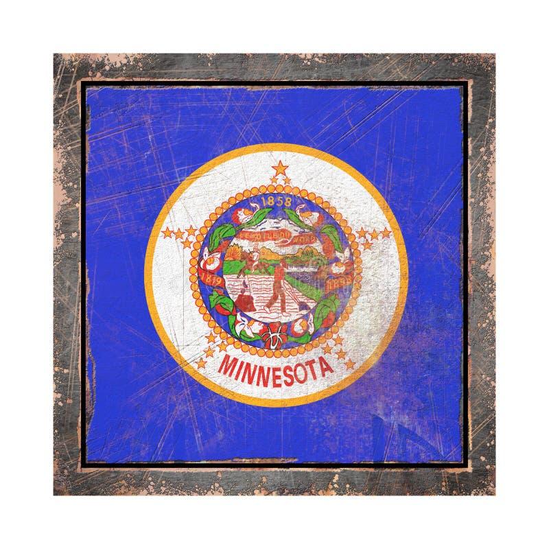 Vieux drapeau du Minnesota illustration libre de droits