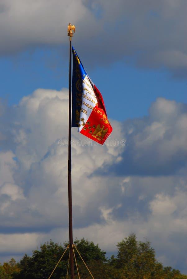 Vieux drapeau français d'état tricolore images libres de droits