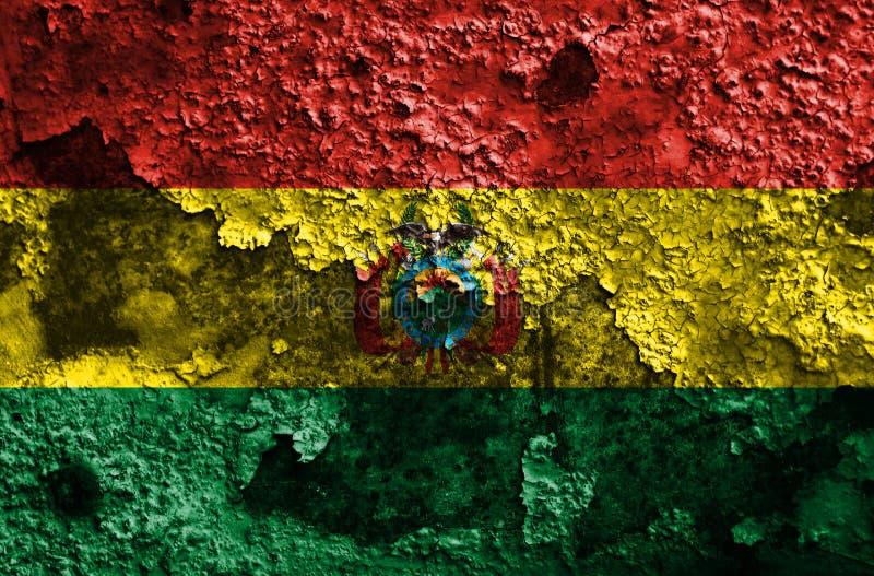 Vieux drapeau grunge de fond de la Bolivie illustration de vecteur