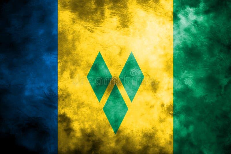 Vieux drapeau grunge de fond de Saint-Vincent-et-les-Grenadines illustration de vecteur