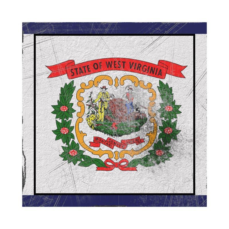 Vieux drapeau occidental de Virginia State illustration libre de droits