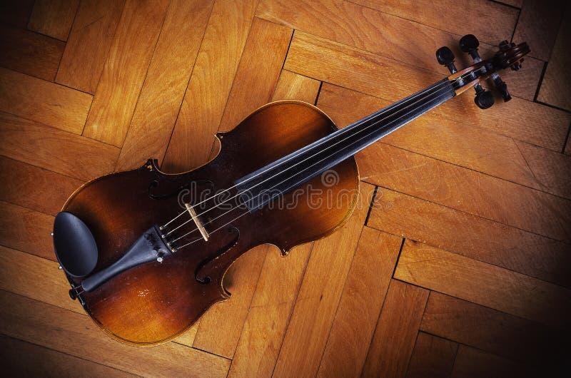 Vieux Dusty Violin Details image stock