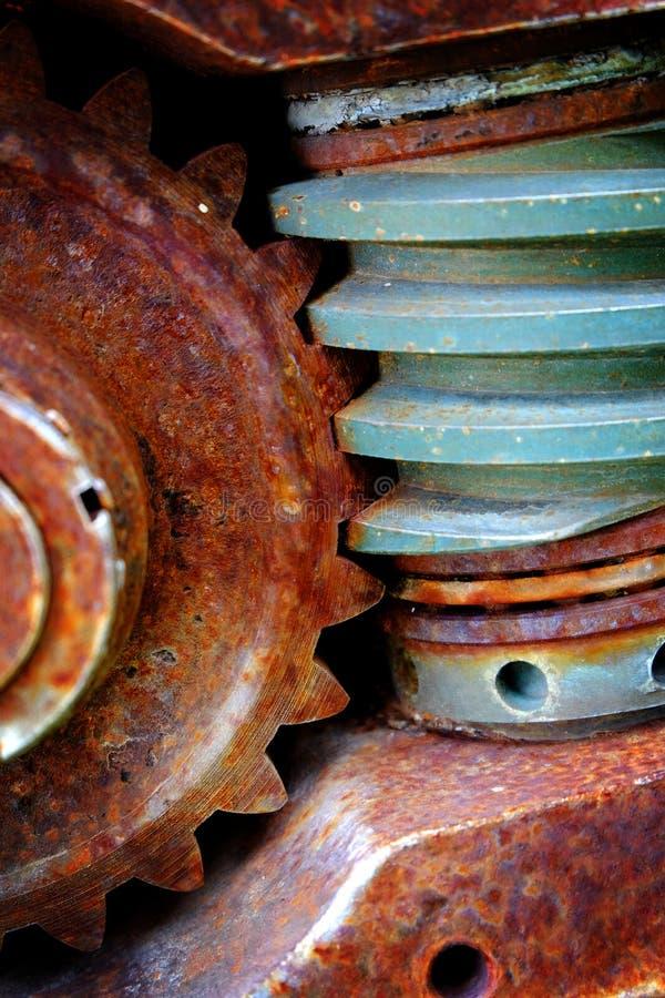 Vieux engrenages Dents rouillés Machines et équipements photo libre de droits