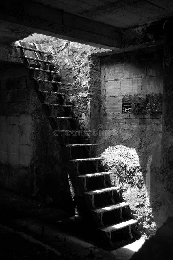 Vieux escaliers image stock