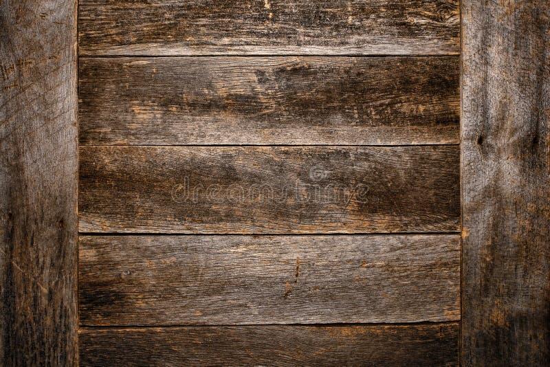 Vieux et antique fond en bois de grunge de panneau de planche photos libres de droits