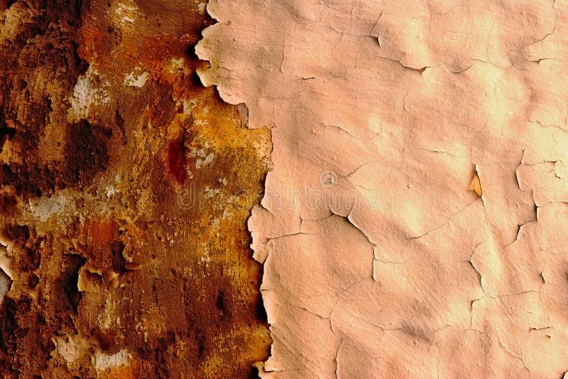 Vieux et exfoliating plâtre photographie stock
