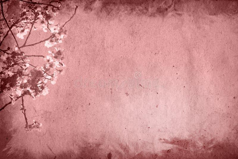 Vieux et fleurissez le fond de papier de texture illustration libre de droits