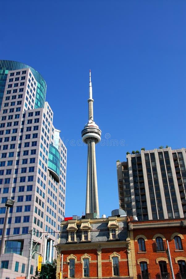 Vieux et neuf Toronto images libres de droits