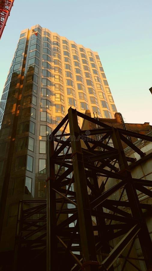 Vieux et nouveaux bâtiments photo stock