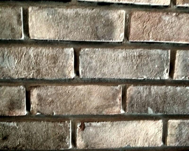 Vieux et superficiel par les agents mur de briques jaune et rouge sale en tant que fond sans couture de texture de modèle illustration stock