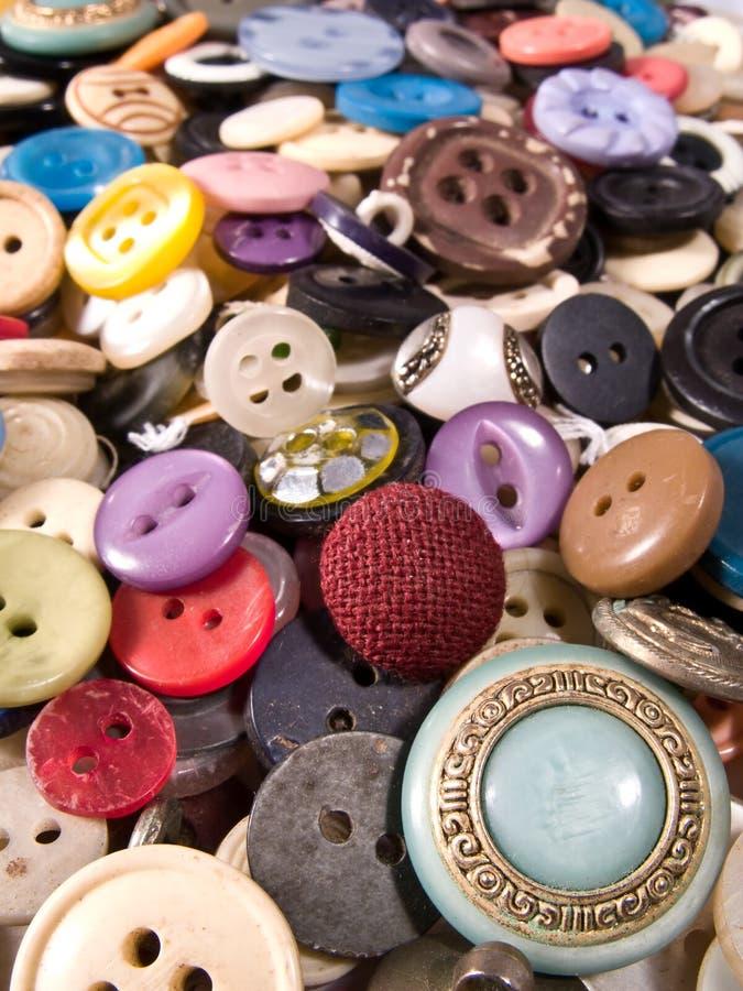 Vieux et utilisés boutons photographie stock
