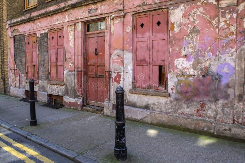 Vieux extérieurs de rue de Princelet à Londres photos libres de droits