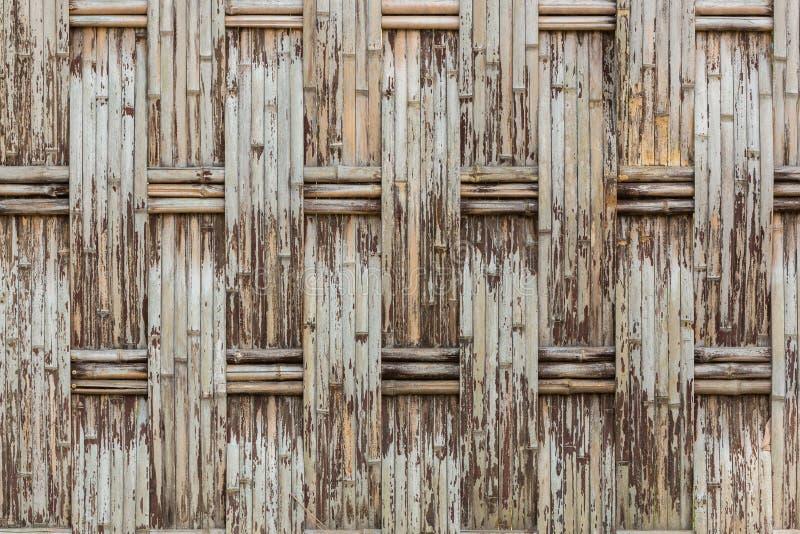 Vieux fabriquez la texture en bambou de mur image libre de droits
