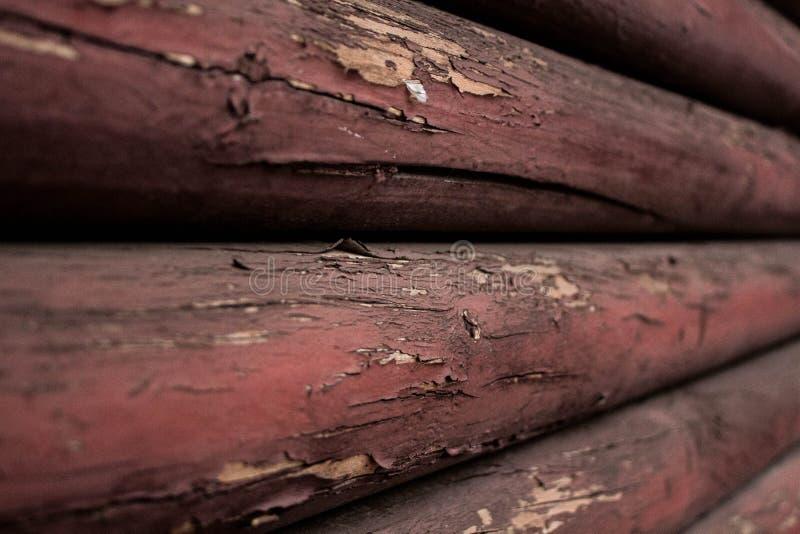 Vieux faisceaux en bois image stock
