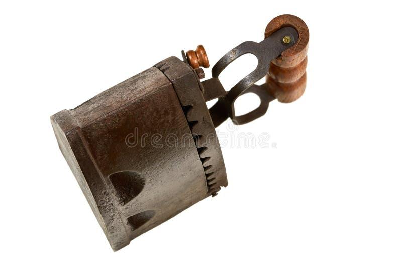 Vieux fer de lissage photographie stock