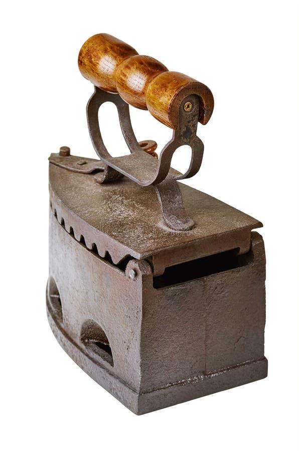 Vieux fer de lissage photographie stock libre de droits