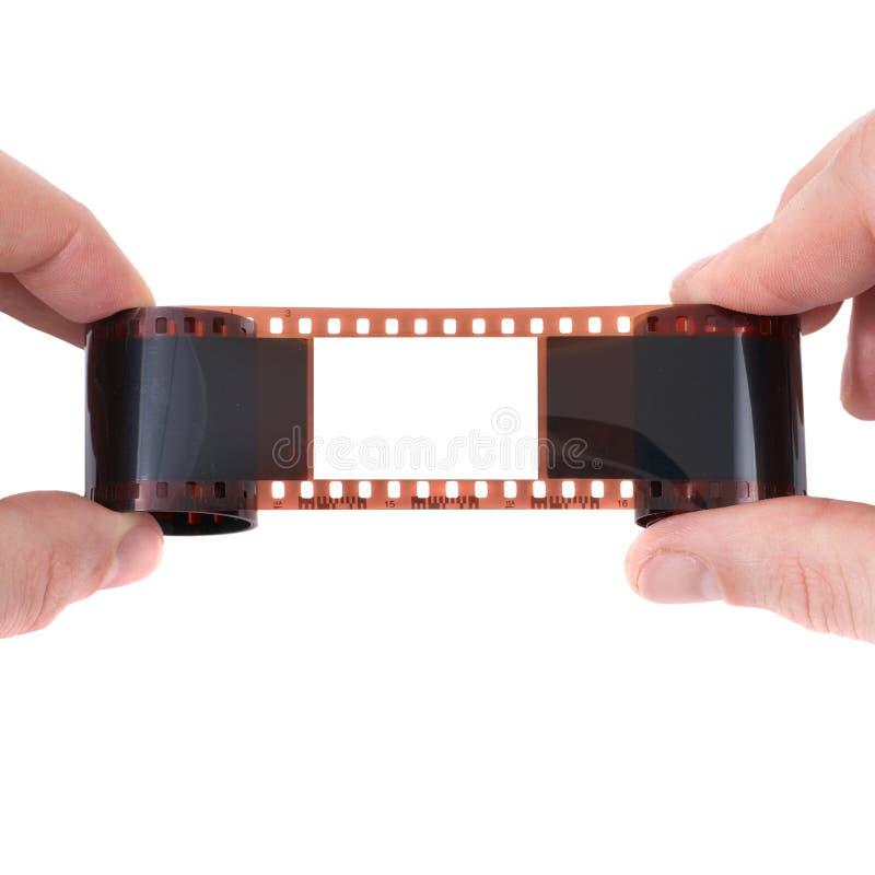 Vieux film avec la trame vide image stock