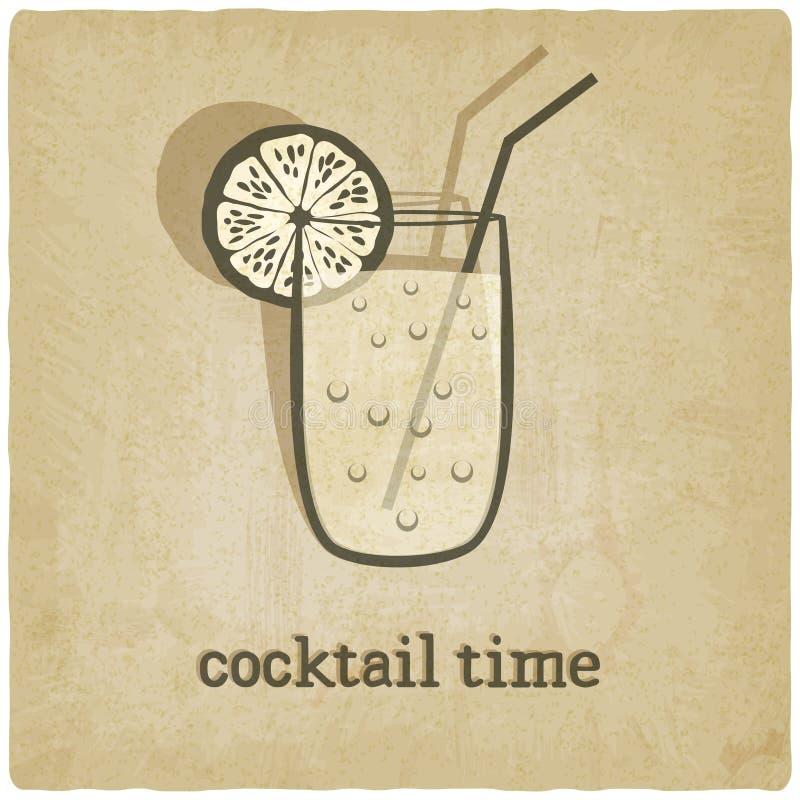 Vieux fond avec le cocktail illustration libre de droits