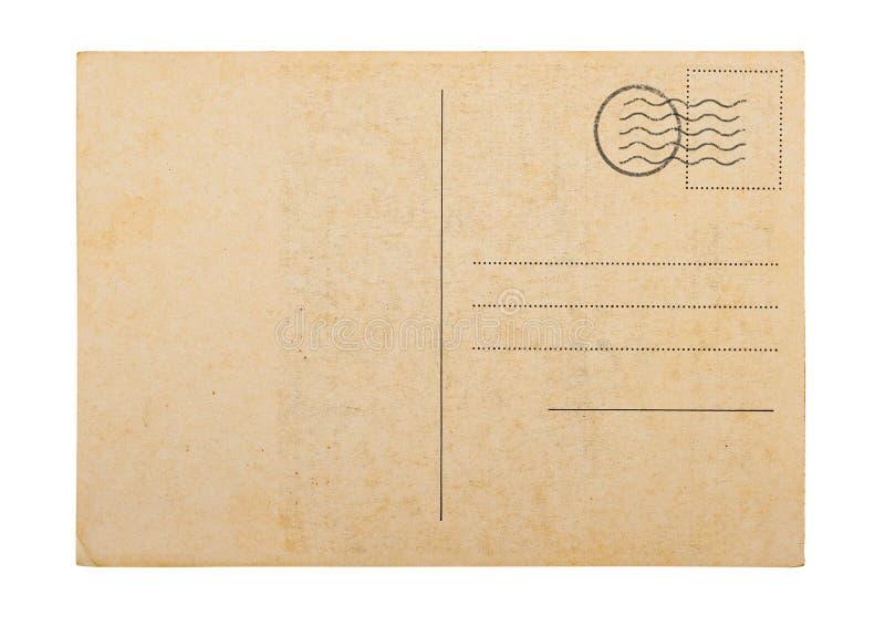 Vieux fond blanc de blanc de carte postale photos libres de droits