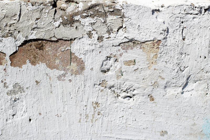 Vieux fond blanc de mur de briques photographie stock libre de droits