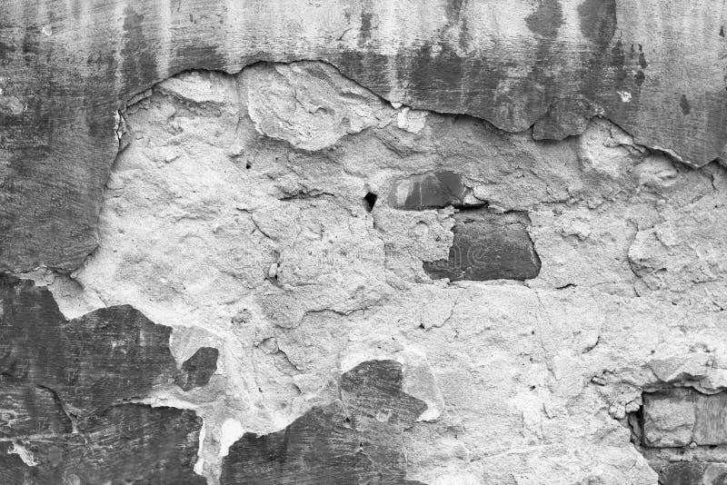 Vieux fond blanc de mur de briques image libre de droits